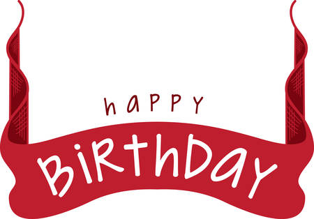 Use this birthday banner for a special celebration.