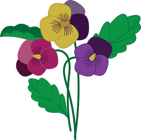 Gift this pansy bunch flowers to your loved ones . Pick those designs by Concord.
