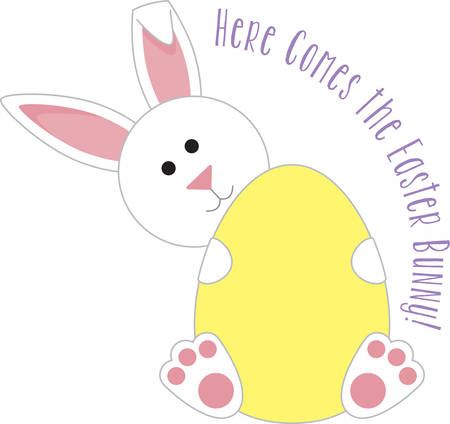 cottontail: This cute Easter bunny is perfect for your decorations. Illustration