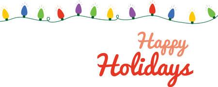 축제 크리스마스 테두리 조명이 문자열을 사용합니다.