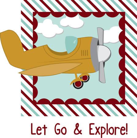 飛行の友人のための袋にこの飛行機を使用します。