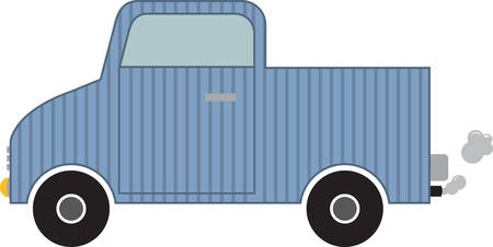 motorcar: Truck to transport the luggage . Pick those design by concord. Illustration