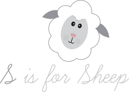 Use this sheep for a little shepherd shirt.