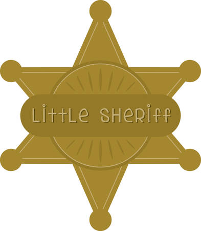 sheriff badge: Your little cowboy will love Sheriff Badge to complete the ultimate cowboy costume Illustration
