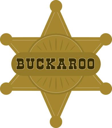 sheriff badge: Su peque�o vaquero amar� Divisa del sheriff para completar el �ltimo traje de vaquero Vectores