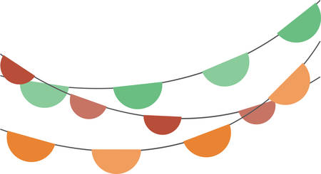 streamers: Nice contemporary circle banner to decorate the party hall . Pick those design by Concord Illustration