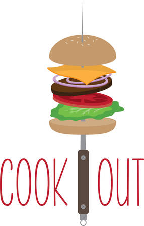 A burger for a cook out or kitchen decoration.
