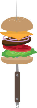 cook out: A burger for a cook out or kitchen decoration.