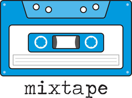 tunes: Remember when your favorite tunes came on cassette tape  Go back to that time with this retro design.