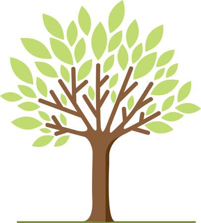 봄 나무는 아름다운 장식입니다. 일러스트