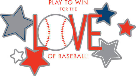 Use this baseball design for someone who really loves the game. Illustration