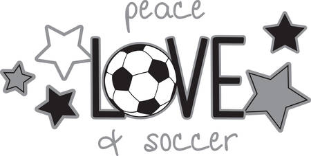 Use this soccer design for someone who really loves the game.