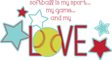 Use this softball design for someone who really loves the game.