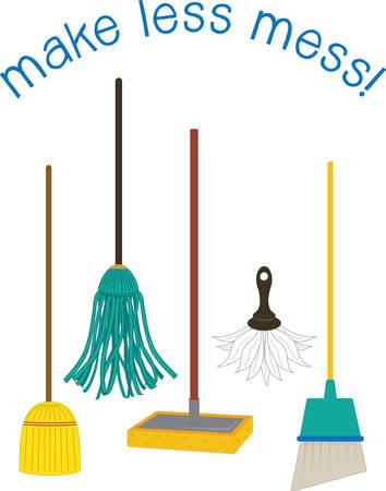 sirvientes: Una fregona como una fregona del piso es una masa o bulto de cuerdas gruesas o hilo de recoger esos dise�os de la concordia Vectores