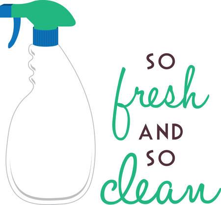 sirvientes: Una botella de spray es una botella que puede rociar líquidos de pulverización o niebla recogen esos diseños de la concordia Vectores