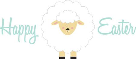 Utilizzare questo agnello su un abito bambino. Archivio Fotografico - 41370433