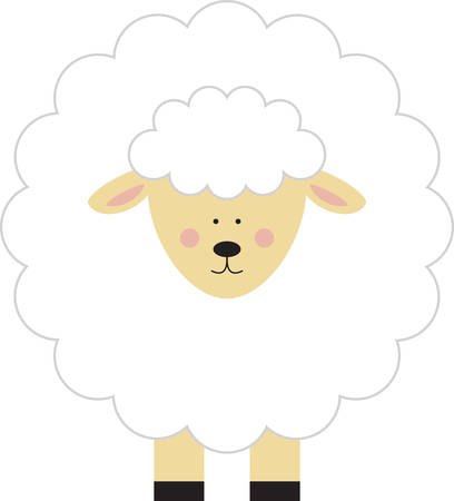 baby lamb: Use this lamb on a baby outfit.
