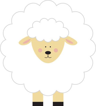 Utilizzare questo agnello su un abito bambino. Archivio Fotografico - 41370438