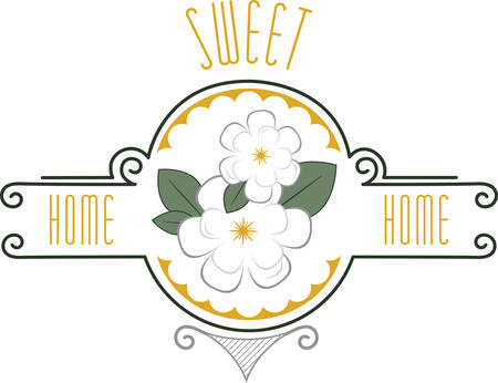 Use this floral border for an apron or kitchen towel.
