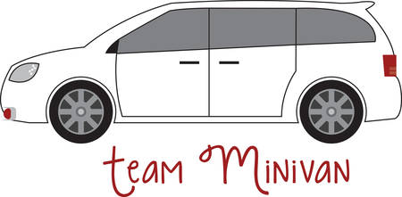 Minivan makes a perfect sense when you are hitting the road with the family. Feel journey like you are in a living room on wheels. Ilustração