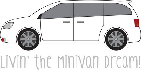minivan: Minivan makes a perfect sense when you are hitting the road with the family. Feel journey like you are in a living room on wheels. Illustration