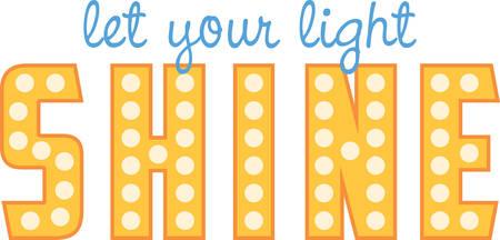 Shine zo helder schijnen als je kunt. Pak die ontwerp van Concord. Stock Illustratie
