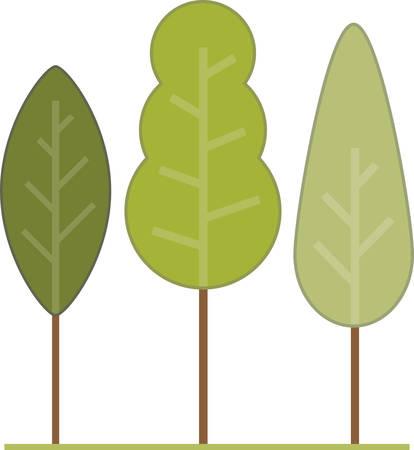 """""""콩코드가 설계 한이 나무와 시원한 산들 바람으로 여름 더위를 이겨내십시오."""" 일러스트"""