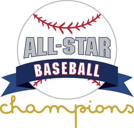 Use this baseball for your little slugger. Illustration