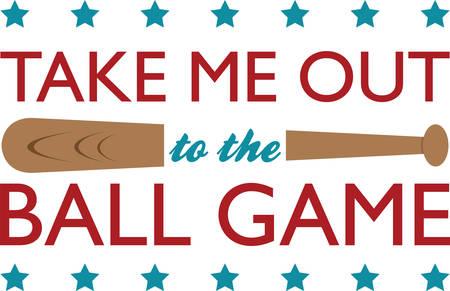 Use this baseball bat for your little slugger. Illustration