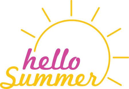 기어 오르는 태양은 멋진 여름 장식입니다.