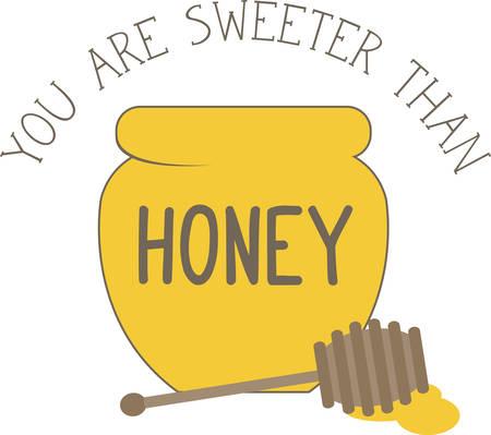 Gebruik deze honing kom voor het t-shirt van een kind.