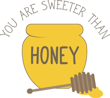 Use this honey bowl for a childs t-shirt. Ilustracja