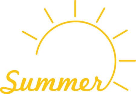 빛나는 태양은 멋진 여름 장식입니다. 일러스트