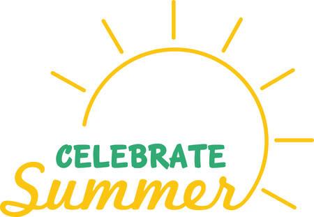 A shinning sun is a wonderful summer decoration. Ilustrace