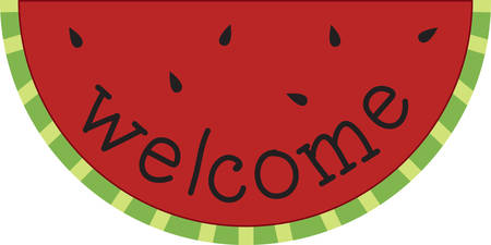 homes: Use this watermelon slice for a fun summer tee. Illustration
