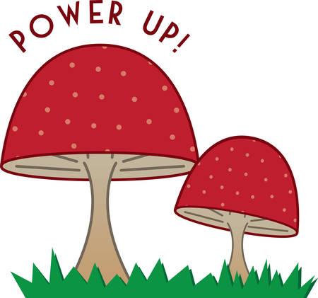 fairy garden: Cute mushrooms are a good accent for a fairy garden.