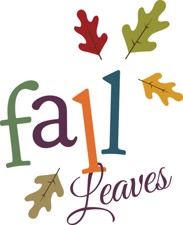 blessings: Colorful leaves are a wonderful fall decoration. Illustration