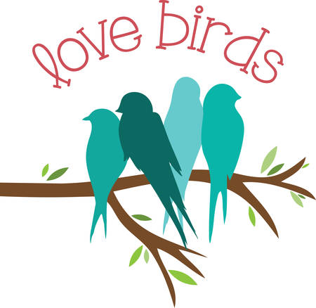 Use these love birds for a shirt or bag. Illusztráció