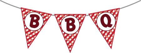 """""""Machen Sie Ihre Grill wirklich mit dieser BBQ rot karierte Flags Der rote karierte Flagge macht die perfekte Ergänzung zu Ihrem nächsten Grillparty zu knallen."""" Standard-Bild - 41370725"""