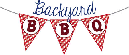 Make your barbecue really pop with this BBQ Red Gingham Flags  The red gingham Flag makes the perfect addition to your next BBQ party.