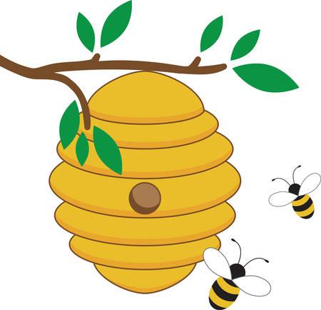 Float like a butterfly sting like a bee. Stock Illustratie