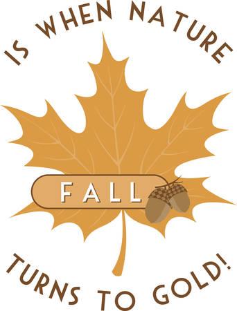 An oak leaf is a wonderful autumn decoration. Stock Illustratie
