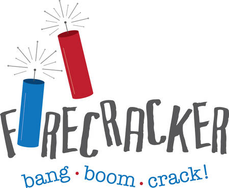 concord: Celebrate your winning with this Firecrackers designed by Concord. Illustration
