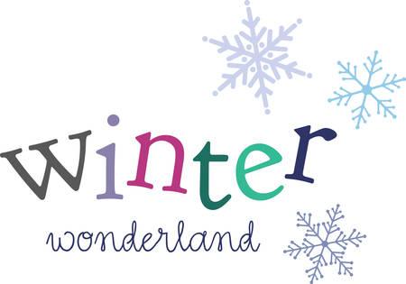A snowflake is a wonderful winter decoration. Ilustração