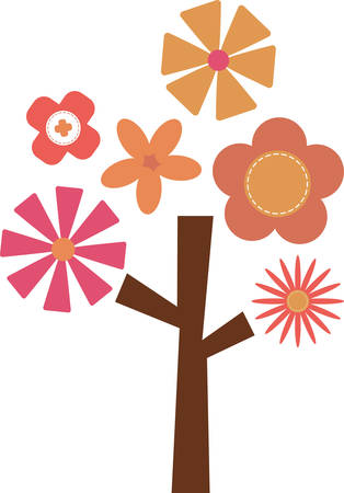 out time: The floral tree reminds us of innocent pleasures and taking out time to communicate with nature and to share time with children encouraging them a love of flowers.