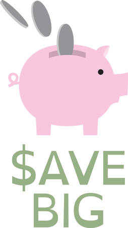 Save your money through Piggy coin collector. Pick those design by Concord.