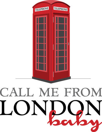 telephone booth: A visit to London would not be complete without these cute phone booths. Illustration