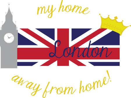 Recoge la bandera colorida Londres. Escoja los diseño de la concordia. Foto de archivo - 41373592