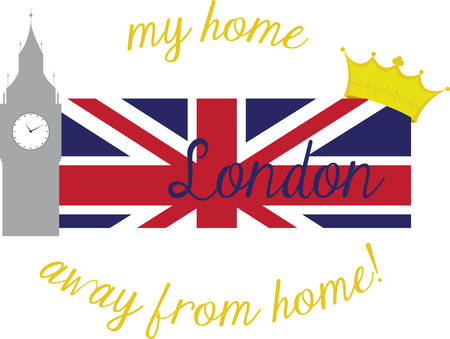 Collect the colorful London  flag. Pick those design by concord. Illustration