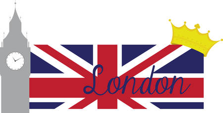 Collect the colorful London  flag. Pick those design by concord. Ilustrace